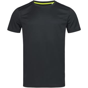 Textiel Heren T-shirts korte mouwen Stedman Mesh Zwart