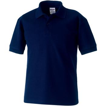 Textiel Jongens Polo's korte mouwen Jerzees Schoolgear 539B Franse marine