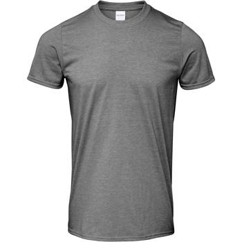 Textiel Heren T-shirts korte mouwen Gildan Soft-Style Grafiet Heide