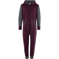 Textiel Kinderen Jumpsuites / Tuinbroeken Comfy Co CC03J Bourgogne/Hardkolen