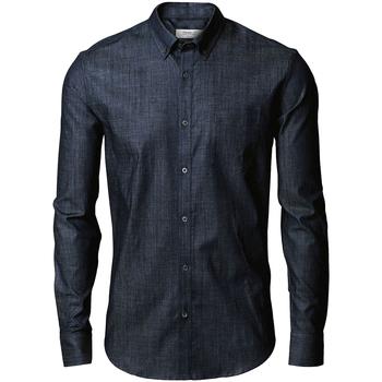 Textiel Heren Overhemden lange mouwen Nimbus Torrance Indigoblauw