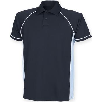 Textiel Heren Polo's korte mouwen Finden & Hales Piped Marine/Sky/White