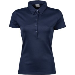 Textiel Dames Polo's korte mouwen Tee Jays Pima Marineblauw