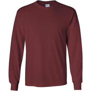 Textiel Heren T-shirts met lange mouwen Gildan 2400 Marron