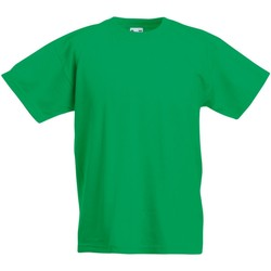 Textiel Kinderen T-shirts korte mouwen Fruit Of The Loom 61019 Kelly Groen