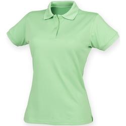 Textiel Dames Polo's korte mouwen Henbury Coolplus Kalk groen