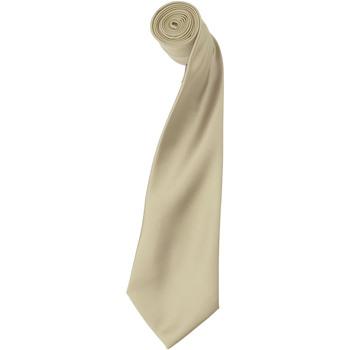 Textiel Heren Stropdassen en accessoires Premier Satin Natuurlijk
