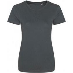 Textiel Dames T-shirts korte mouwen Ecologie EA01F Houtskool