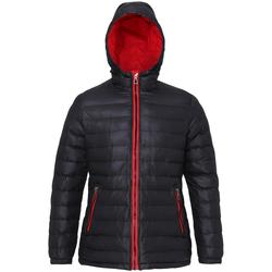 Textiel Dames Dons gevoerde jassen 2786 TS16F Zwart/Rood