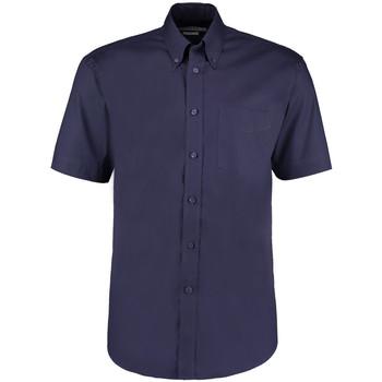 Textiel Heren Overhemden korte mouwen Kustom Kit KK109 Middernacht marine