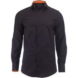 Textiel Heren Overhemden lange mouwen Alexandra Hospitality Zwart / Oranje
