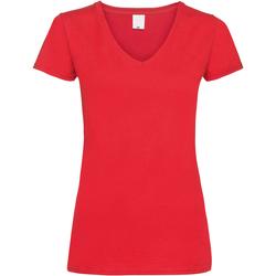 Textiel Dames T-shirts korte mouwen Universal Textiles Value Helder rood