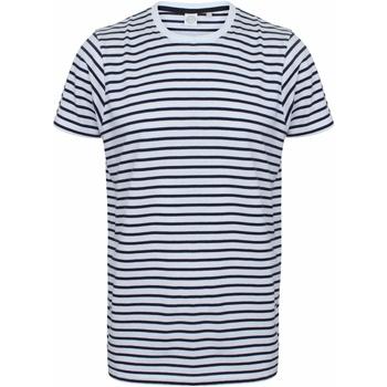 Textiel T-shirts korte mouwen Skinni Fit SF202 Witte/Oxfordse marine