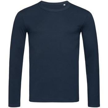 Textiel Heren T-shirts met lange mouwen Stedman Stars  Donkerblauw