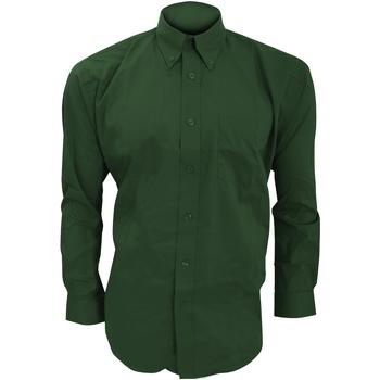 Textiel Heren Overhemden lange mouwen Kustom Kit KK105 Fles groen