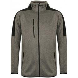 Textiel Heren Fleece Finden & Hales LV622 Donkergrijs mergel/zwart