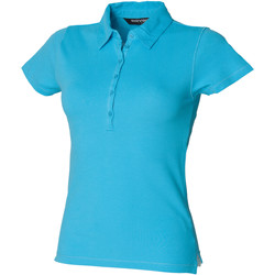 Textiel Dames Polo's korte mouwen Skinni Fit SK042 Surf Blauw