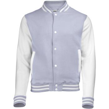 Textiel Kinderen Wind jackets Awdis JH43J Heide Grijs/Wit