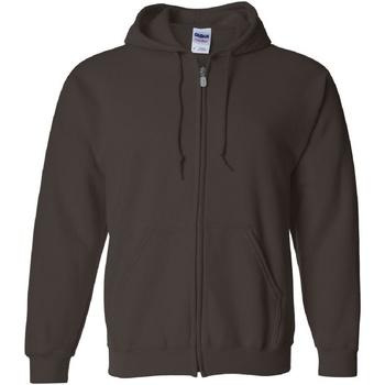 Textiel Heren Sweaters / Sweatshirts Gildan 18600 Donkere chocolade