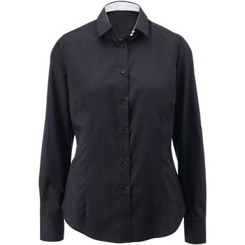 Textiel Dames Overhemden Alexandra AX060 Zwart/Wit