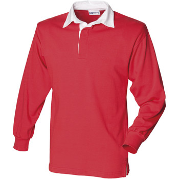 Textiel Heren Polo's lange mouwen Front Row FR100 Rood/Wit