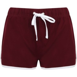 Textiel Dames Korte broeken / Bermuda's Skinni Fit SK69 Bourgogne/Wit