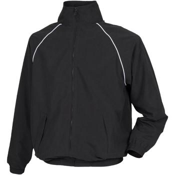 Textiel Heren Windjack Tombo Teamsport TL400 Zwart/witte leidingen