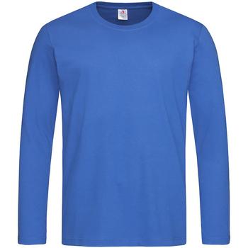 Textiel Heren T-shirts met lange mouwen Stedman  Blauw