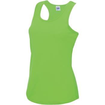 Textiel Dames Mouwloze tops Awdis JC015 Elektrisch Groen