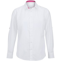 Textiel Heren Overhemden lange mouwen Alexandra Hospitality Wit/roze
