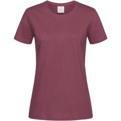 Textiel Dames T-shirts korte mouwen Stedman  Donkerpaars