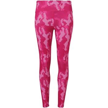 Textiel Dames Leggings Tridri TR032 Camo Hete Roze