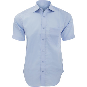 Textiel Heren Overhemden korte mouwen Kustom Kit KK115 Lichtblauw