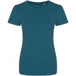 Textiel Dames T-shirts korte mouwen Ecologie EA01F Inkt Blauw