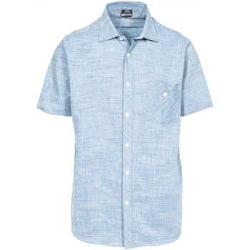 Textiel Heren Overhemden korte mouwen Trespass Buru Chambray