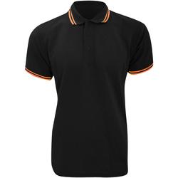 Textiel Heren Polo's korte mouwen Kustom Kit KK409 Zwart/Oranje