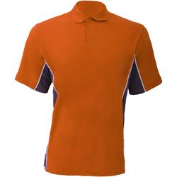 Textiel Heren Polo's korte mouwen Gamegear KK475 Oranje/Grafiek/Wit