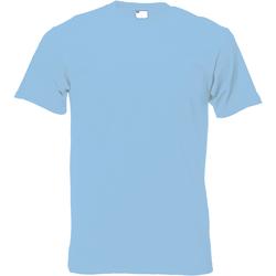Textiel Heren T-shirts korte mouwen Universal Textiles 61082 Lichtblauw