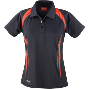 Textiel Dames Polo's korte mouwen Spiro S177F Zwart/Rood