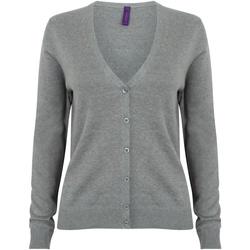 Textiel Dames Vesten / Cardigans Henbury HB726 Leisteengrijs mergel