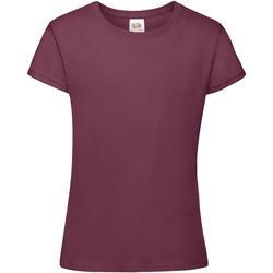 Textiel Meisjes T-shirts korte mouwen Fruit Of The Loom 61017 Bordeaux
