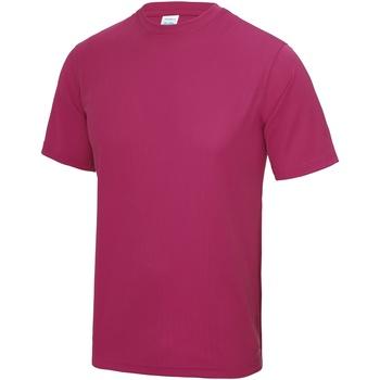 Textiel Heren T-shirts korte mouwen Awdis JC001 Heet Roze