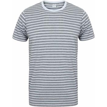 Textiel T-shirts korte mouwen Skinni Fit SF202 Heide Grijs/Wit