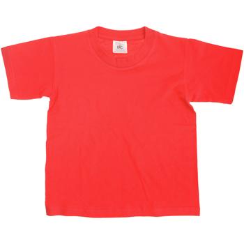 Textiel Kinderen T-shirts korte mouwen B And C TK300 Rood