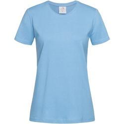 Textiel Dames T-shirts korte mouwen Stedman  Lichtblauw