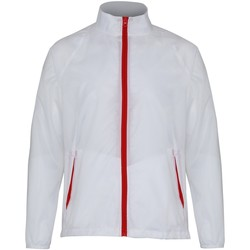 Textiel Heren Windjack 2786  Wit/rood