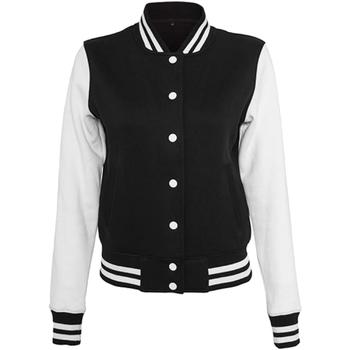 Textiel Dames Wind jackets Build Your Brand BY027 Zwart/Wit