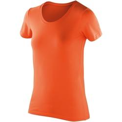 Textiel Dames T-shirts korte mouwen Spiro SR280F Mandarijn