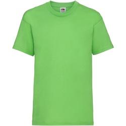 Textiel Kinderen T-shirts korte mouwen Fruit Of The Loom 61033 Lime