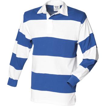 Textiel Heren Polo's lange mouwen Front Row FR08M Wit & Koninklijk (Witte kraag)